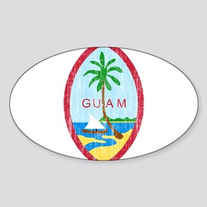 Guam Coat Of Arms Sticker (Oval)