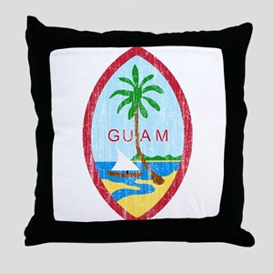 Guam Coat Of Arms Throw Pillow