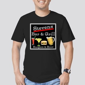 Personalized Bar and Grill Men's Fitted T-Shirt (d