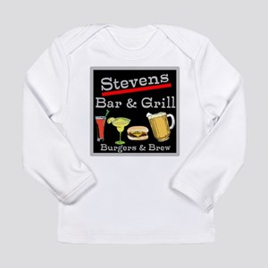 Personalized Bar and Grill Long Sleeve Infant T-Sh