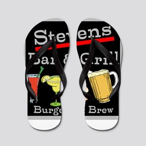 Personalized Bar and Grill Flip Flops