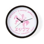Pink Cowboy Wall Clock
