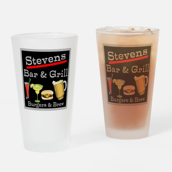 Personalized Bar and Grill Drinking Glass