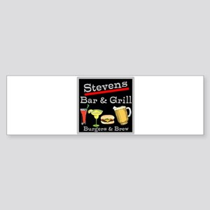 Personalized Bar and Grill Sticker (Bumper)