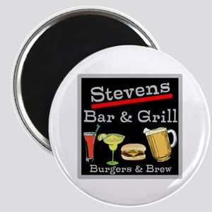 Personalized Bar and Grill Magnet