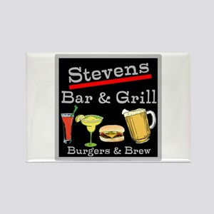 Personalized Bar and Grill Rectangle Magnet