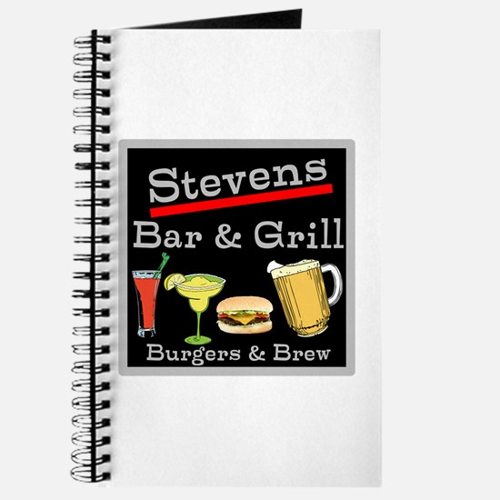 Personalized Bar and Grill Journal