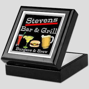 Personalized Bar and Grill Keepsake Box