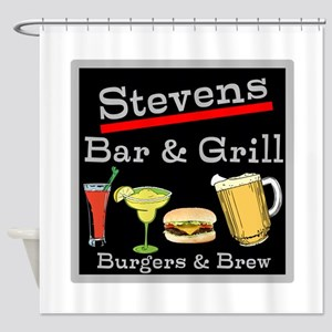Personalized Bar and Grill Shower Curtain