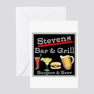 Personalized Bar and Grill Greeting Card
