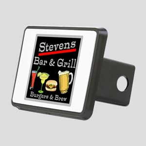 Personalized Bar and Grill Rectangular Hitch Cover