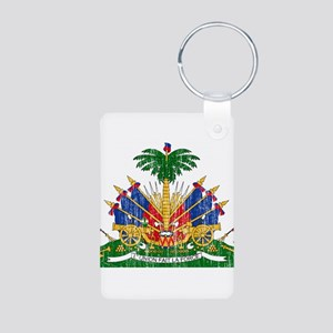 Haiti Coat Of Arms Aluminum Photo Keychain