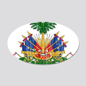 Haiti Coat Of Arms 20x12 Oval Wall Decal