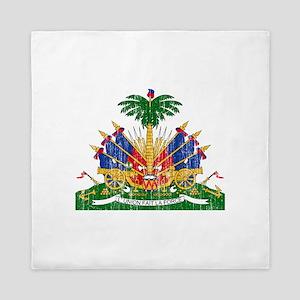 Haiti Coat Of Arms Queen Duvet