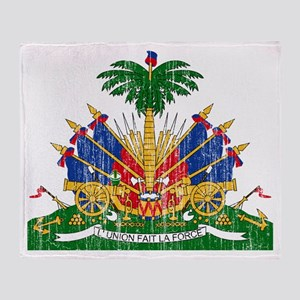 Haiti Coat Of Arms Throw Blanket