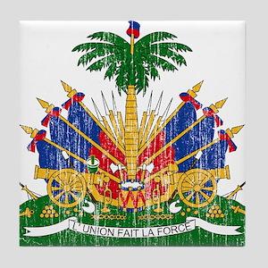 Haiti Coat Of Arms Tile Coaster