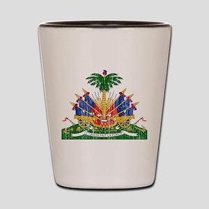 Haiti Coat Of Arms Shot Glass