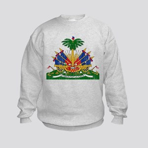 Haiti Coat Of Arms Kids Sweatshirt