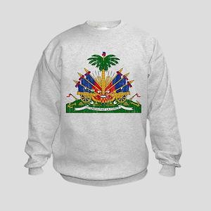 Haiti Coat Of Arms Kids Sweatshirt