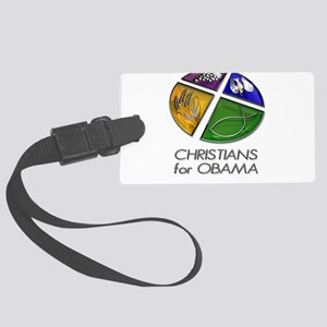 Christians for Obama Large Luggage Tag