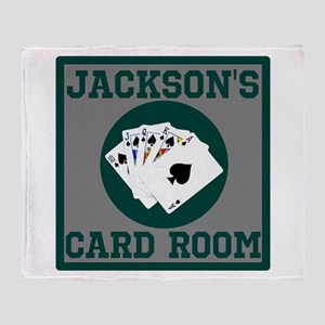 Personalized Card Room Throw Blanket