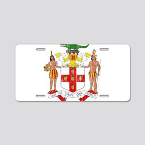 Jamaica Coat Of Arms Aluminum License Plate