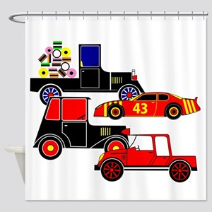 Virtual Cars Shower Curtain