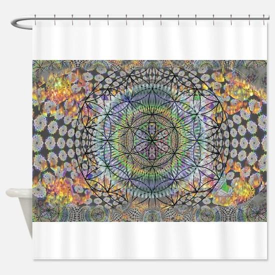 420 brain vaporizer magic portal Shower Curtain