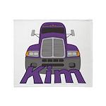 Trucker Kim Throw Blanket