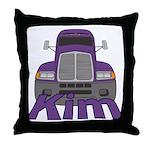 Trucker Kim Throw Pillow