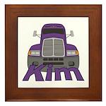 Trucker Kim Framed Tile