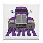 Trucker Kim Tile Coaster