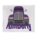 Trucker Kimberly Throw Blanket