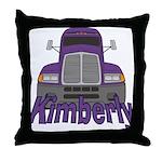 Trucker Kimberly Throw Pillow