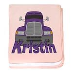 Trucker Kristin baby blanket
