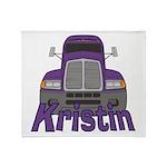 Trucker Kristin Throw Blanket