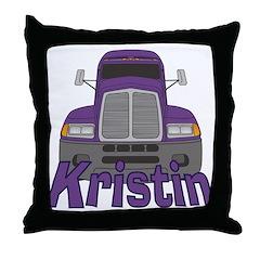 Trucker Kristin Throw Pillow