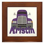 Trucker Kristin Framed Tile