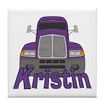 Trucker Kristin Tile Coaster