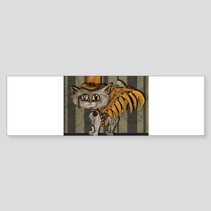 steampunk grey Mr Tipps Sticker (Bumper)