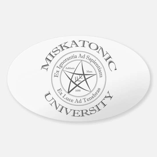 Miskatonic University Sticker (Oval)