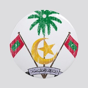 Maldives Coat Of Arms Ornament (Round)