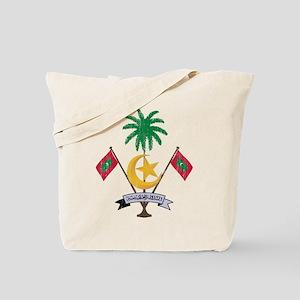 Maldives Coat Of Arms Tote Bag