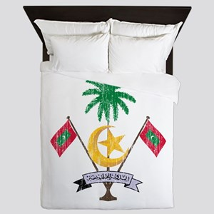 Maldives Coat Of Arms Queen Duvet