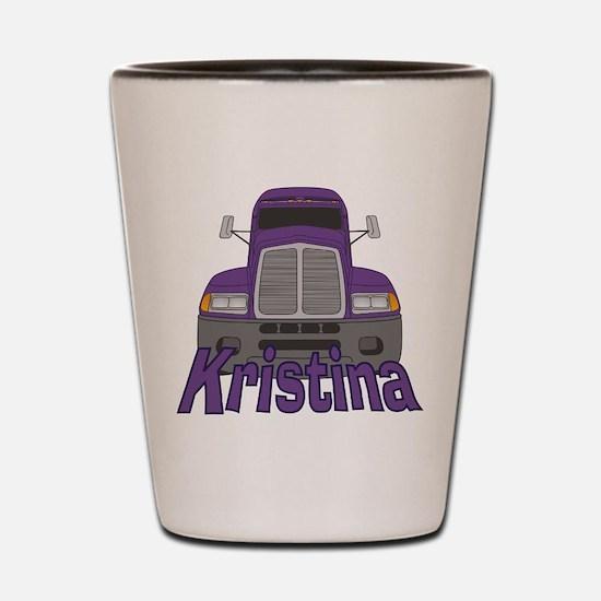 Trucker Kristina Shot Glass