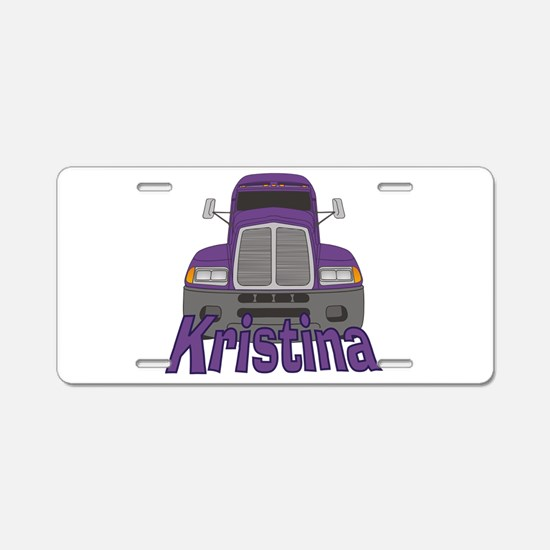 Trucker Kristina Aluminum License Plate