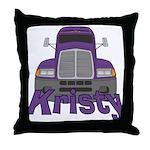 Trucker Kristy Throw Pillow
