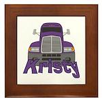 Trucker Kristy Framed Tile