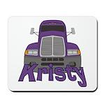 Trucker Kristy Mousepad