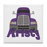 Trucker Kristy Tile Coaster